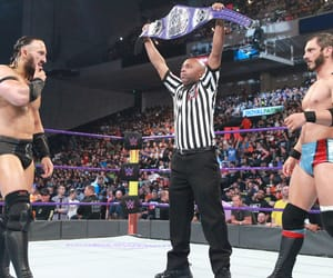 neville, austin aries, and wwe image