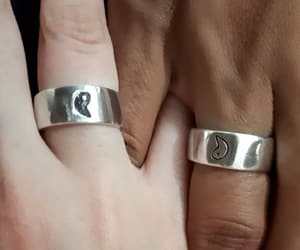 boyfriend, fingers, and girlfriend image