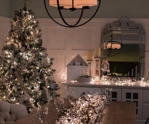 beauty, chandelier, and christmas image