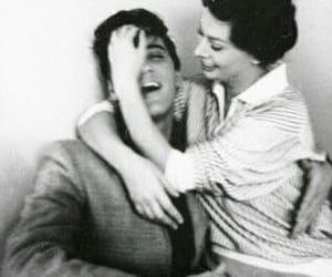 Elvis Presley, sophia loren, and black and white image