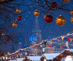 christmas, moscow, and snow image