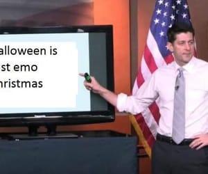 christmas, Halloween, and emo image