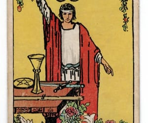 cards, fortune telling, and magician image