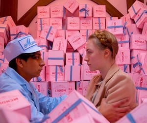wes anderson, movie, and pink image