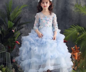 lace, a line dress, and tulle image