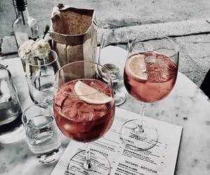 drink and rose gold image