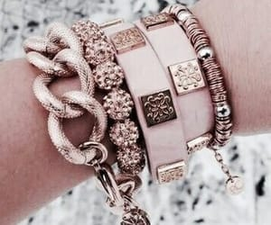 bracelet, rose gold, and accessories image