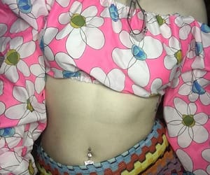belly button piercing, moda, and navel image