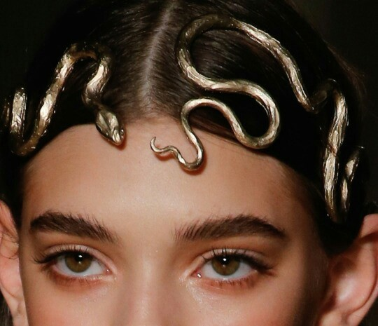 snake, model, and gold image