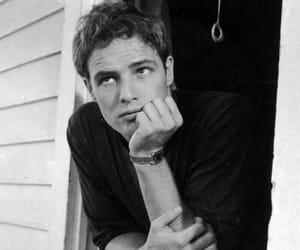 marlon brando, actor, and black and white image