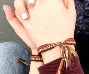 best friends, friendship, and bracelets image