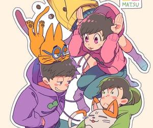 anime, cat, and choromatsu image