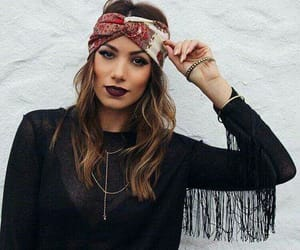 bandanas, make up, and hippie chic image