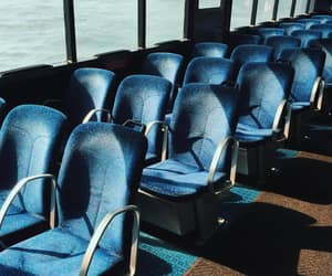 blue, bus, and seats image