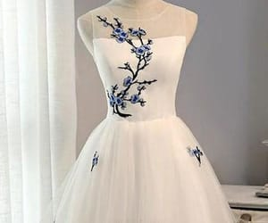 a-line homecoming dress, lace homecoming dress, and homecoming dress white image