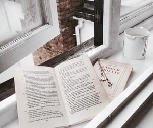 book, morning, and coffee image