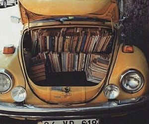 book, car, and yellow image