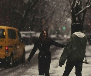 couples and winter image