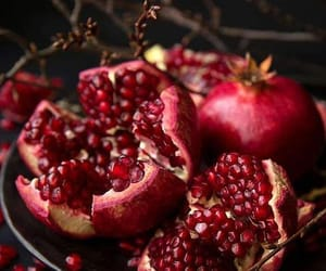 article, champagne, and pomegranate image
