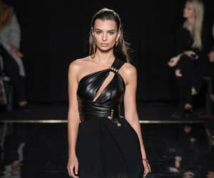 fashion, Versace, and emily ratajkowski image