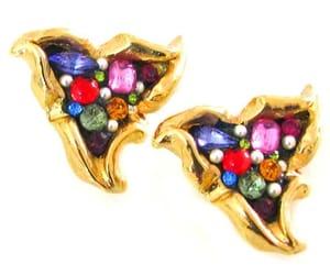 earrings, vintage earrings, and clip on earrings image