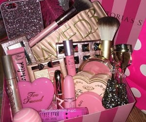 gift box, makeup, and victoria secret image