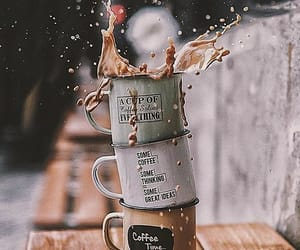 coffee, autumn, and drink image