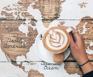 coffee, cozy, and map image