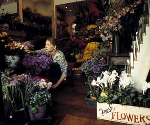 cate blanchett, purple, and flowers image