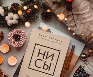 autumn, books, and christmas image
