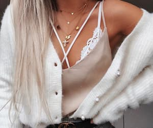 bralette, cardigan, and casual image
