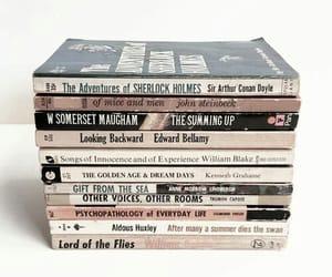 books, classics, and sherlock holmes image