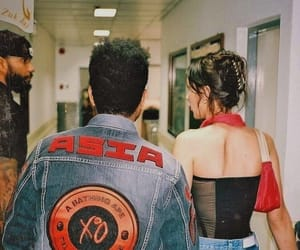 couple, model, and the weeknd image