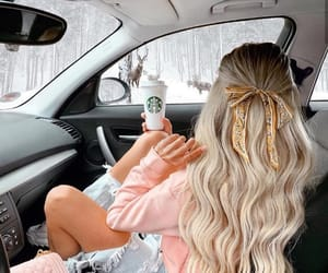 blonde, car, and fashion image