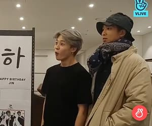 jin, k-pop, and live image