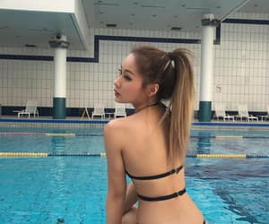 asian, swimwear, and ulzzang image