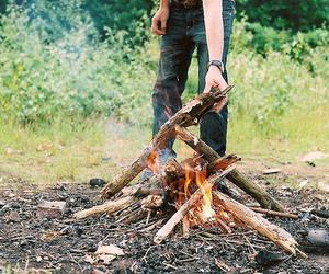 fire, vintage, and bonfire image