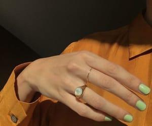 fashion, nails, and orange image