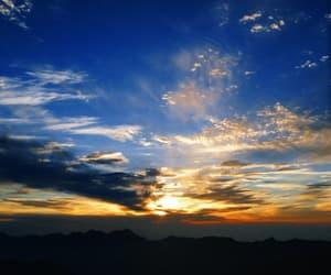 clouds, orange, and dawn image