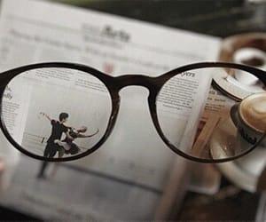 glasses, coffee, and gif image
