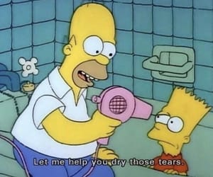 the simpsons, tears, and simpsons image