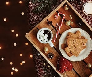christmas, Cookies, and lights image