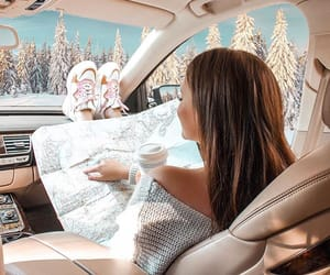 christmas, roadtrip, and snowflakes image