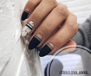 nails, beautiful, and black image