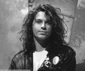 INXS, Michael Hutchence, and mike image