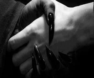 nails, black, and dark image