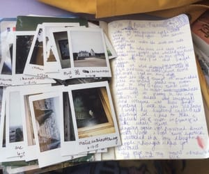 polaroid, photo, and journal image