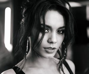 vanessa hudgens, black and white, and actress image