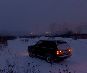 car, winter, and snow image
