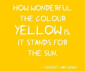 quotes, yellow, and van gogh image